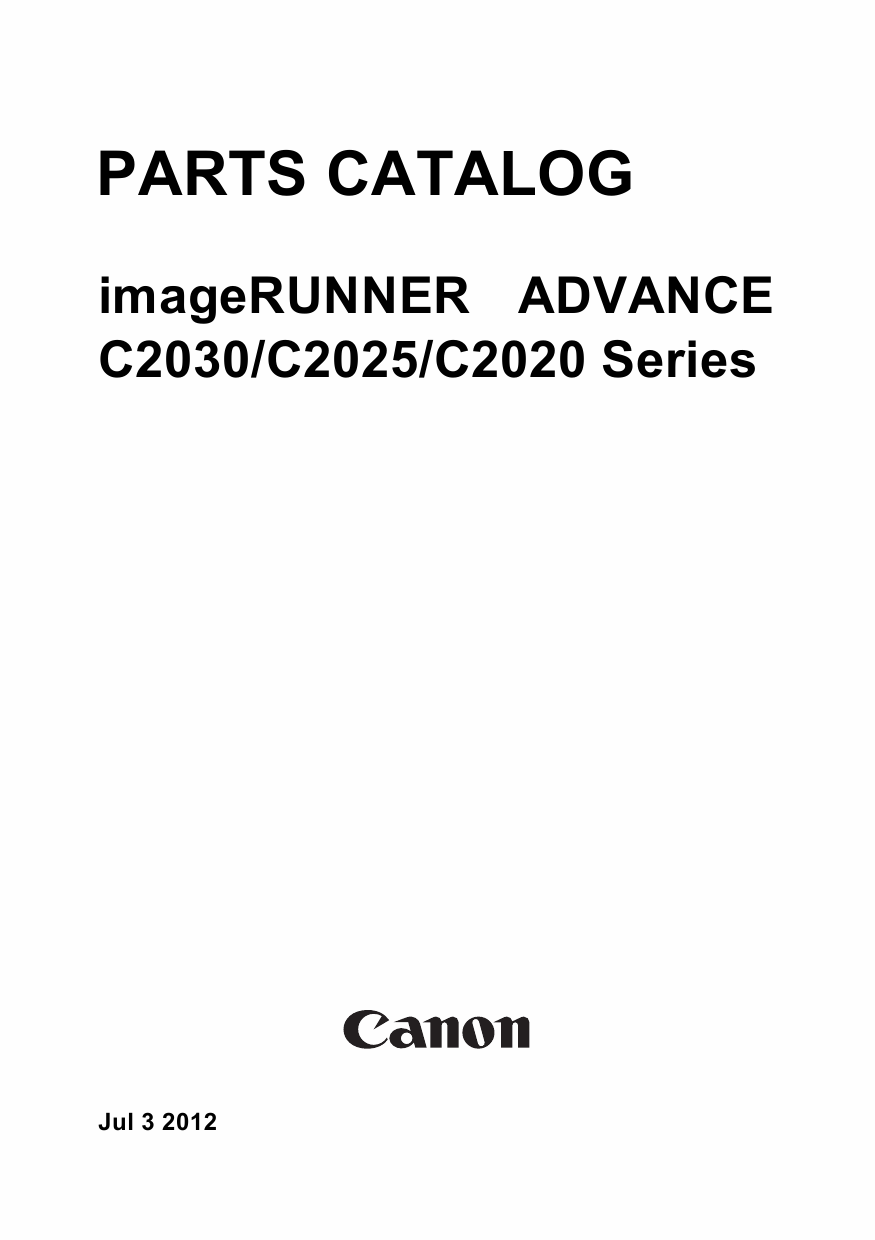 Canon imageRUNNER-ADVANCE iR C2030 C2025 C2020 Parts